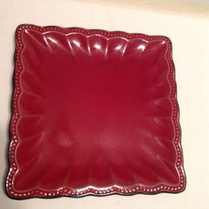 Roscher&Co. Hobnail Red (Square) dinner plate,